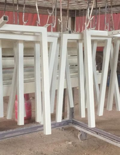 Rangka Kaki Meja - White - NMJ Powdercoating