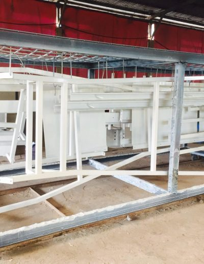 Set Conveyor - White - NMJ Powdercoating