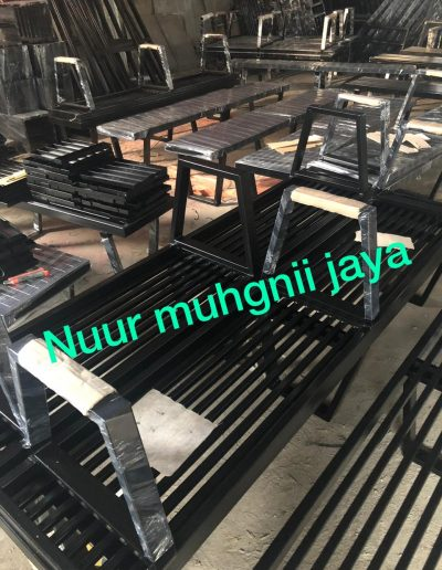 Bench Hitam Glossy - NMJ Powdercoating