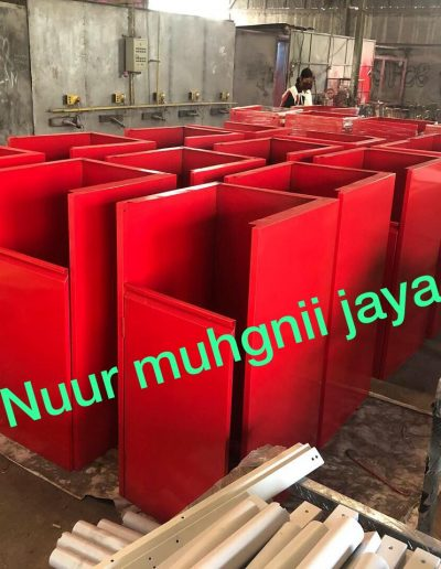 Rubbish Bin - Merah - NMJ Powdercoating